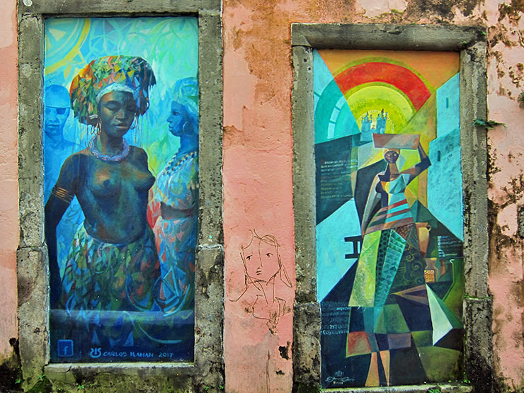 Street paintings in Salvador, Bahia