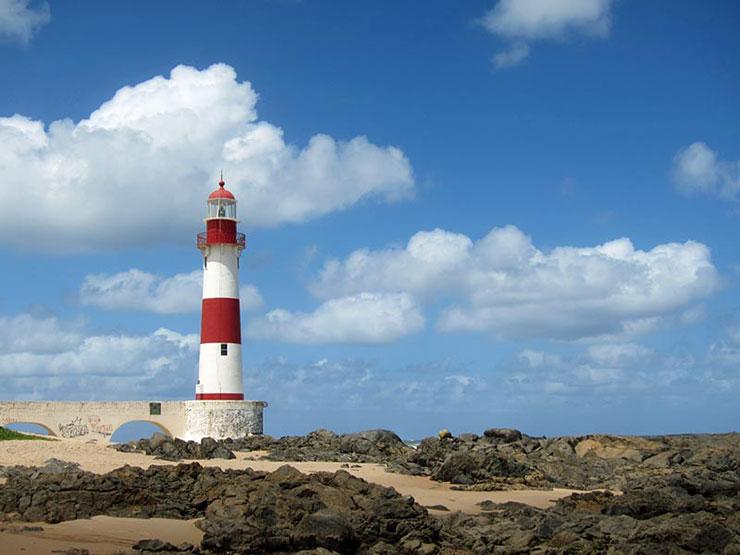 The Farol de Itapoan in Salvador, Bahia