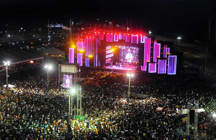 New Year's Eve in Salvador, Bahia, Brazil