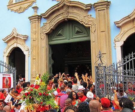 Santa Bárbara, Pelourinho, Salvador, Bahia, Brazil